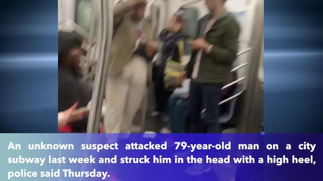 79-year-old man attacked bloody with high heel on train