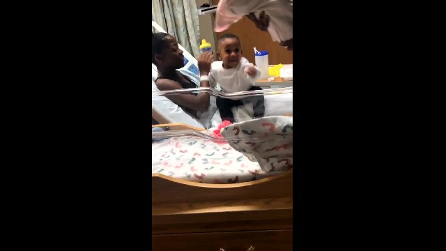 Adorable Little Boy's Over-The-Top Reaction To New Baby Sister Has Millions Melting.