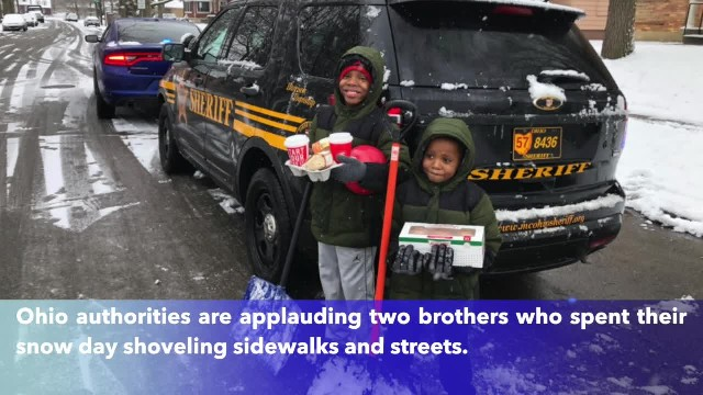 Brothers spent snow day shoveling sidewalks, streets, 'trying to make the world a safer place'