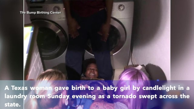 Texas woman delivers baby girl by candlelight in laundry room during tornado