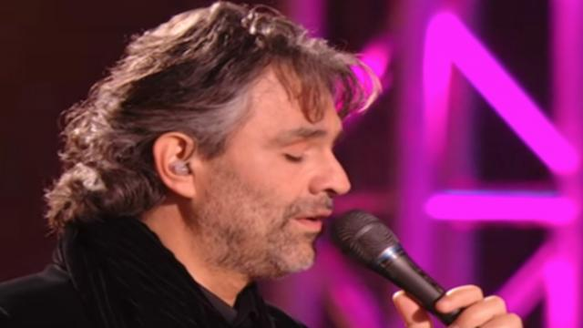 Elvis made the song famous, but when Andrea Bocelli sings, tears