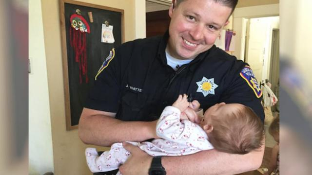 Cop adopts newborn of homeless woman he helped on patrol