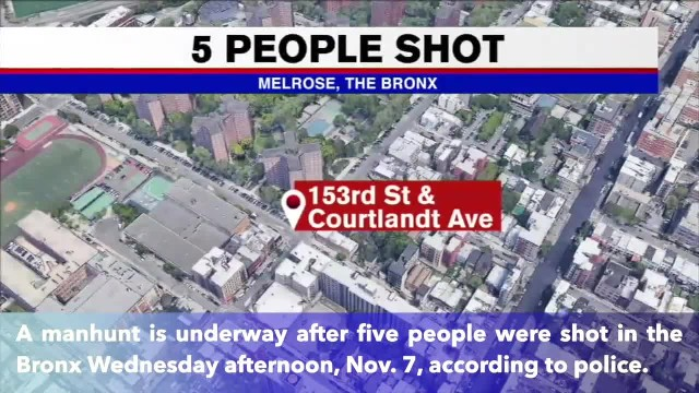 2 children among 5 people shot and wounded in the Bronx