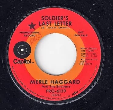 Merle Haggard Honors Those Who Gave The Ultimate Sacrifice In Tearjerking 'Soldier's Last Letter'