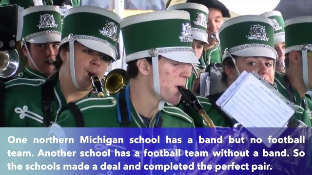 Michigan high school football team with no band invites band with no team to play at its games