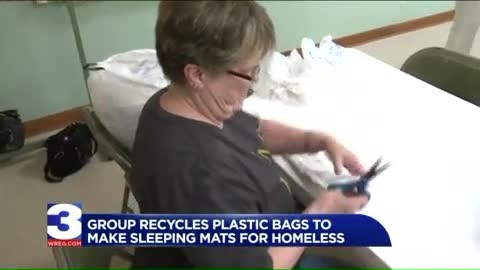 More Ladies Who Crochet Are Using Old Plastic Bags To Make Sleeping Mats For The Homeless