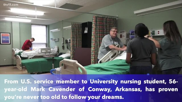 Arkansas man starts nursing school at 54, proves age is just a number when you're going for your dre