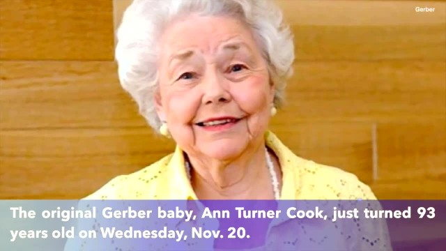 The original Gerber baby, Ann Turner Cook, celebrates her 93rd birthday