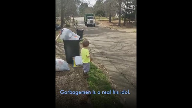 Every Tuesday, This 3-year-old Boy Will Stand Outside His House With Garbage And Wait For His Best F