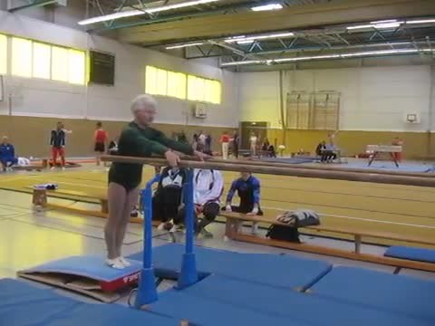 When this 86-year-old approaches the parallel bars, everyone is stunned by the outcome