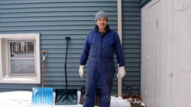 When I saw my neighbor's trick for shoveling snow, I knew i'd never do it the same way again