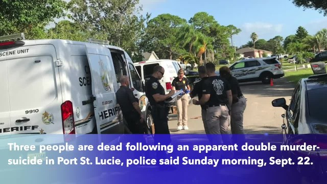 Police- 3 dead in double murder-suicide in Florida