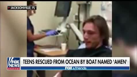 Two teens certain 'God is real' after being rescued at sea