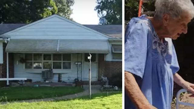 Facing $2k a day in fines, widow goes outside to find that strangers have been working on her proper