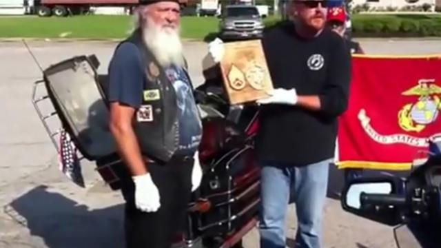 Bikers learn Marine's remains being shipped FedEx, ride 2,000 miles to keep that from happening