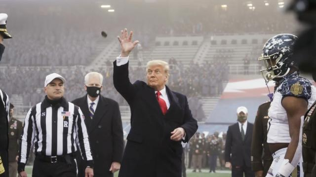 President Donald J. Trump attends the 2020 army navy game