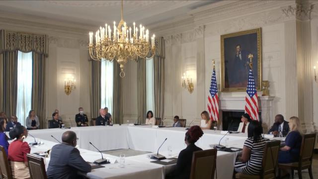 First Lady Melania Trump hosts sickle cell disease roundtable at the White House