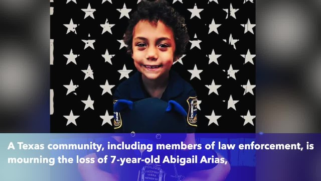 7-year-old Texas cancer patient and honorary Freeport officer Abigail Arias laid to rest
