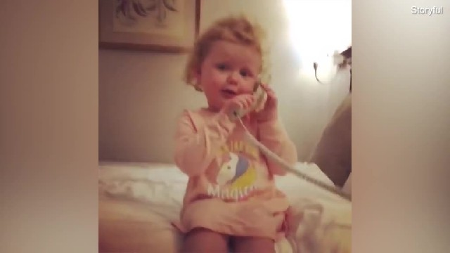 3-year-old calls her imaginary friend. Her hilarious conversation is leaving everyone in hysterics
