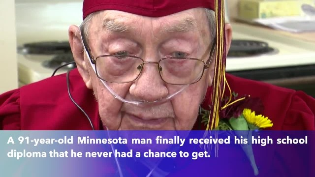 91-year-old Minnesota man awarded high school diploma