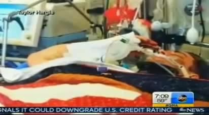 Soldier Is Severely Wounded From Suicide Bombing, Wife Captures Him Holding Salute On Hospital Bed