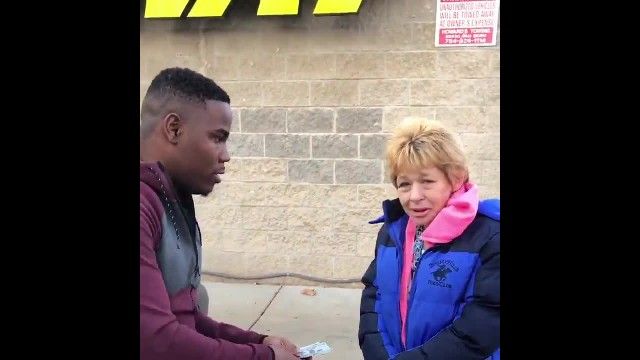 Man Selflessly Gives Widow Money After Seeing Her Pay For Gas With Pennies