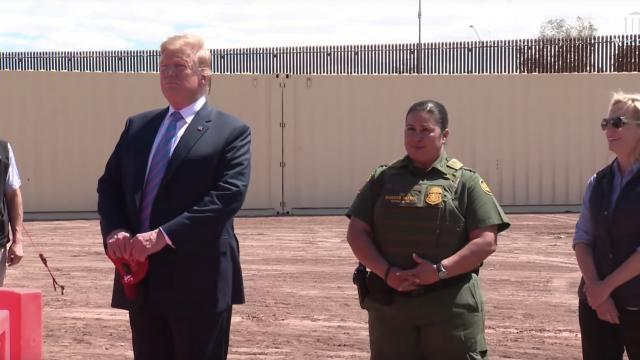 President Trump Visits the New Border Wall