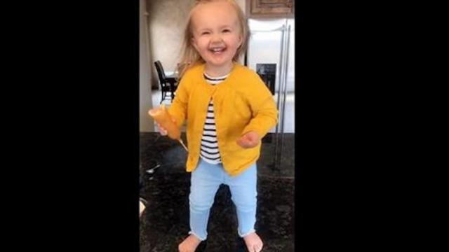 2-year-old hears Beyonce and unleashes dance moves making her an internet sensation