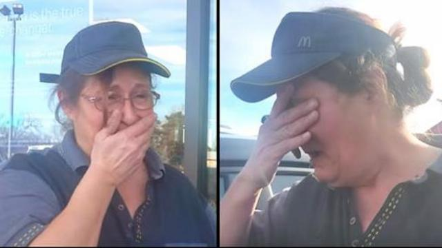 Customer urges fast food worker to step outside only to ambush her with ploy making her weep