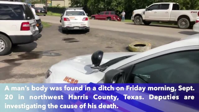 Man found in ditch in Harris County, Texas believed to have drowned in floodwaters