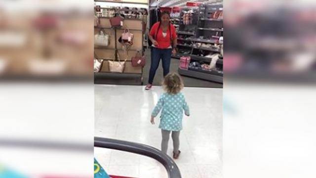 Mom catches Target employee having face off with her daughter and runs for her camera