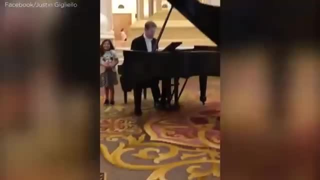 "Firefighter Dad Bursts Into ""Ave Maria"" At Hotel Lobby And Blows His Daughter's Feet Off"