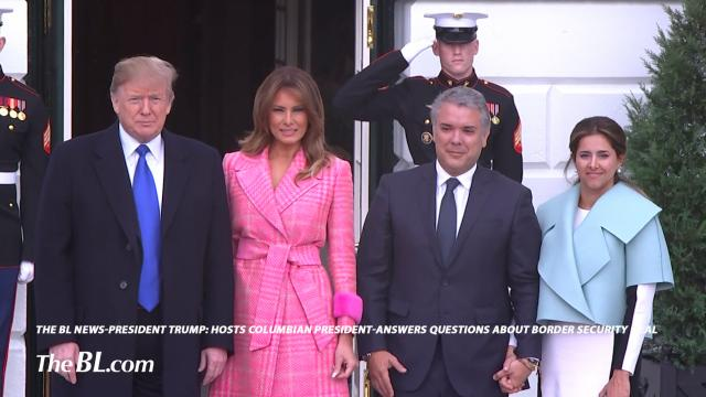 President Trump Hosts Columbian President-answers questions about border security deal