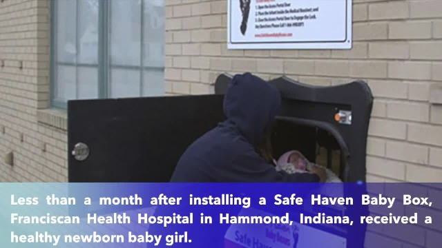 Indiana baby girl saved by Safe Haven Baby Box the first month it was installed