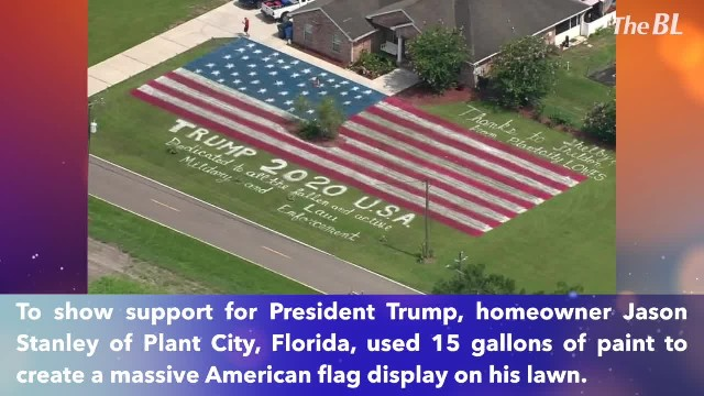 Man paints giant America flag