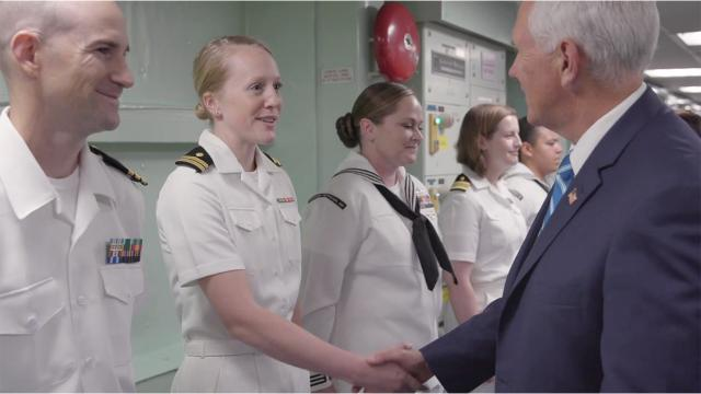 Vice President Pence Visits the USNS Comfort