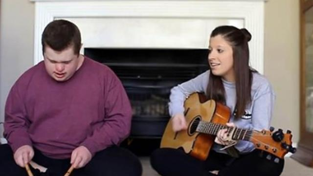 Sister starts singing 'Jolene,' but when brother joins, in he completely steals the show