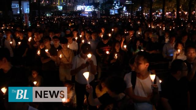 Hong Kong residents hold candlelight vigil to mark Tiananmen massacre