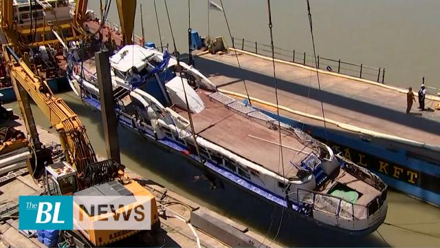 Rescue team recovers sunken tour boat from Danube River