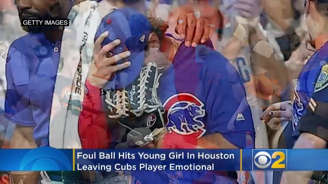 Ballplayer hits 4-year-old girl with 90 MPH foul ball and stops the game to weep on field