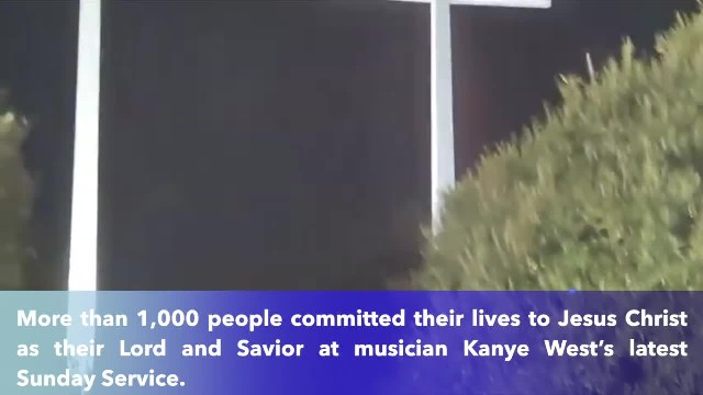 'New wave of revival' Over 1,000 commited their lives to Christ at Kanye West's Sunday Service