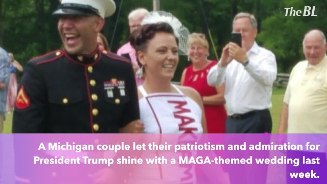 Patriotic Couple Celebrate with MAGA-Themed Wedding!