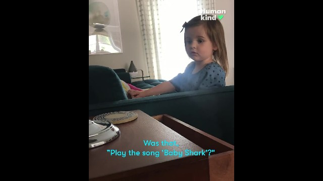 "Mom can't stop laughing when Alexa refuses to play ""Baby Shark"" for toddler"