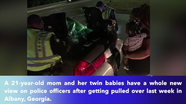 Savannah police officers buy young mom new car seats for her twin babies