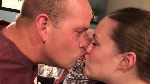A jealous baby can't stop crying when its parents kiss