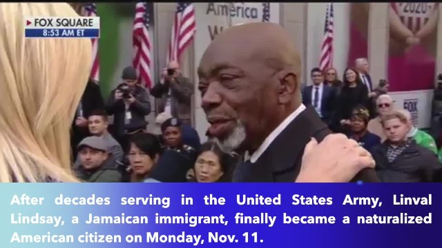 Immigrant who served in the Army becomes US citizen on Veterans Day- This flag means 'everything'