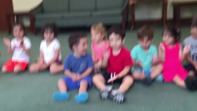 Teacher tells students to clap their hands only stay focused on little boy in blue