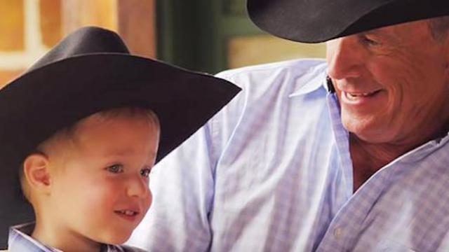 "Hear George strait sing with grandson in new single ""God & Country Music"""