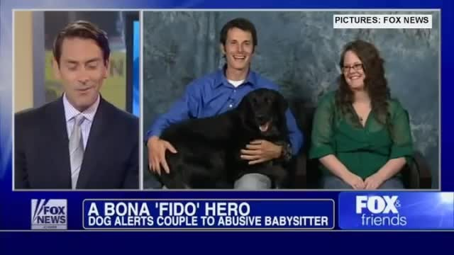 Baby couldn't tell his parents about cruel sitter, but his dog could