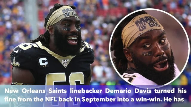 Demario Davis 'Man of God' headband sales explode after NFL fine, he donates it all to charity
